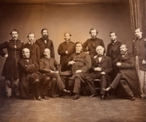 Staff of the Knight Hospital, about 1864