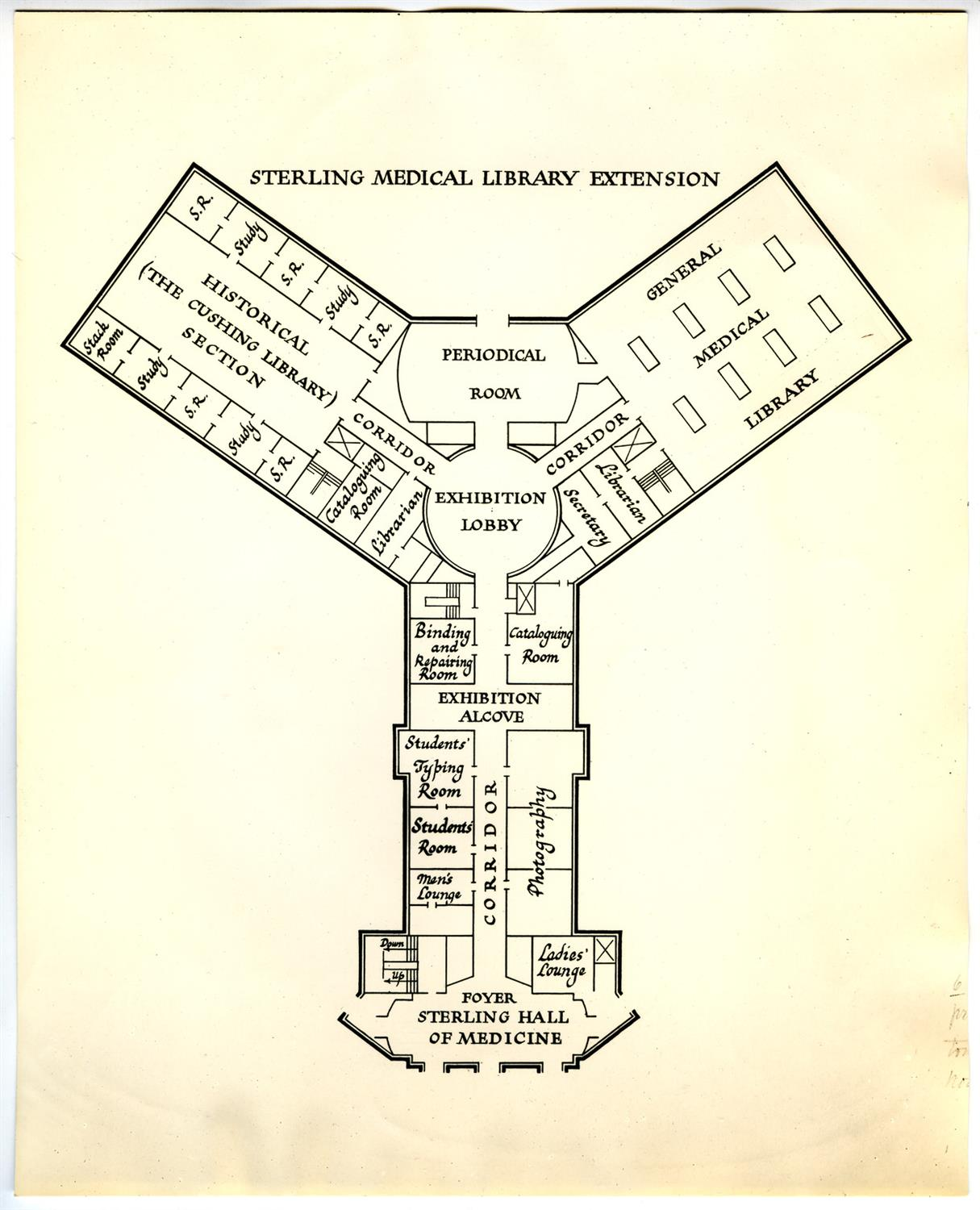 Original Medical library floorplan