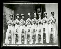 The Connecticut Training School for Nurses, Class of 1899. Yale School of Medicine Photographs