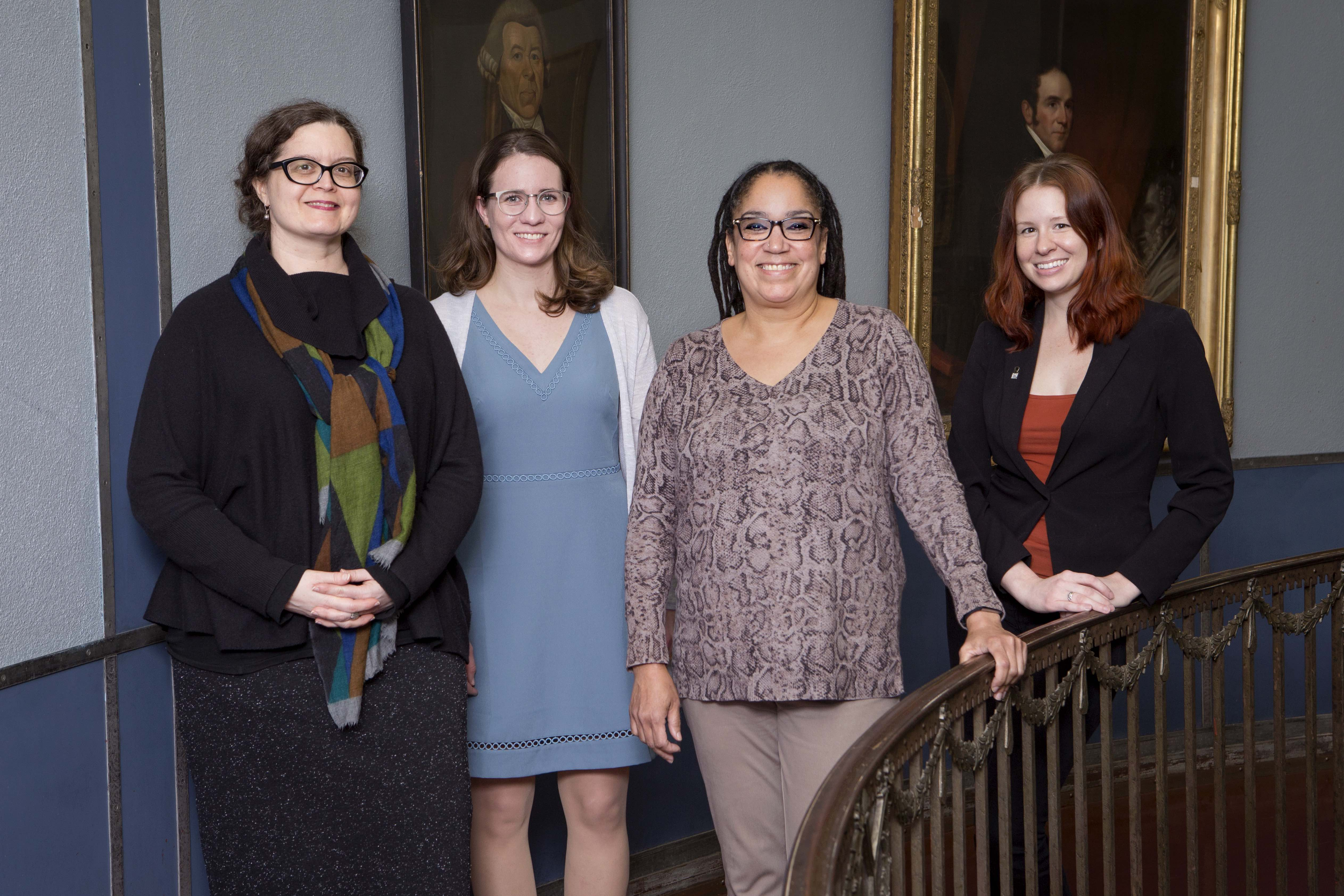 New staff: Kathi Isham, Sawyer Newman, Lisa Sanders, and Dana Haugh