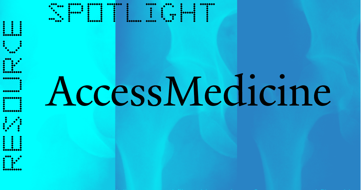 Resource Spotlight: AccessMedicine header image