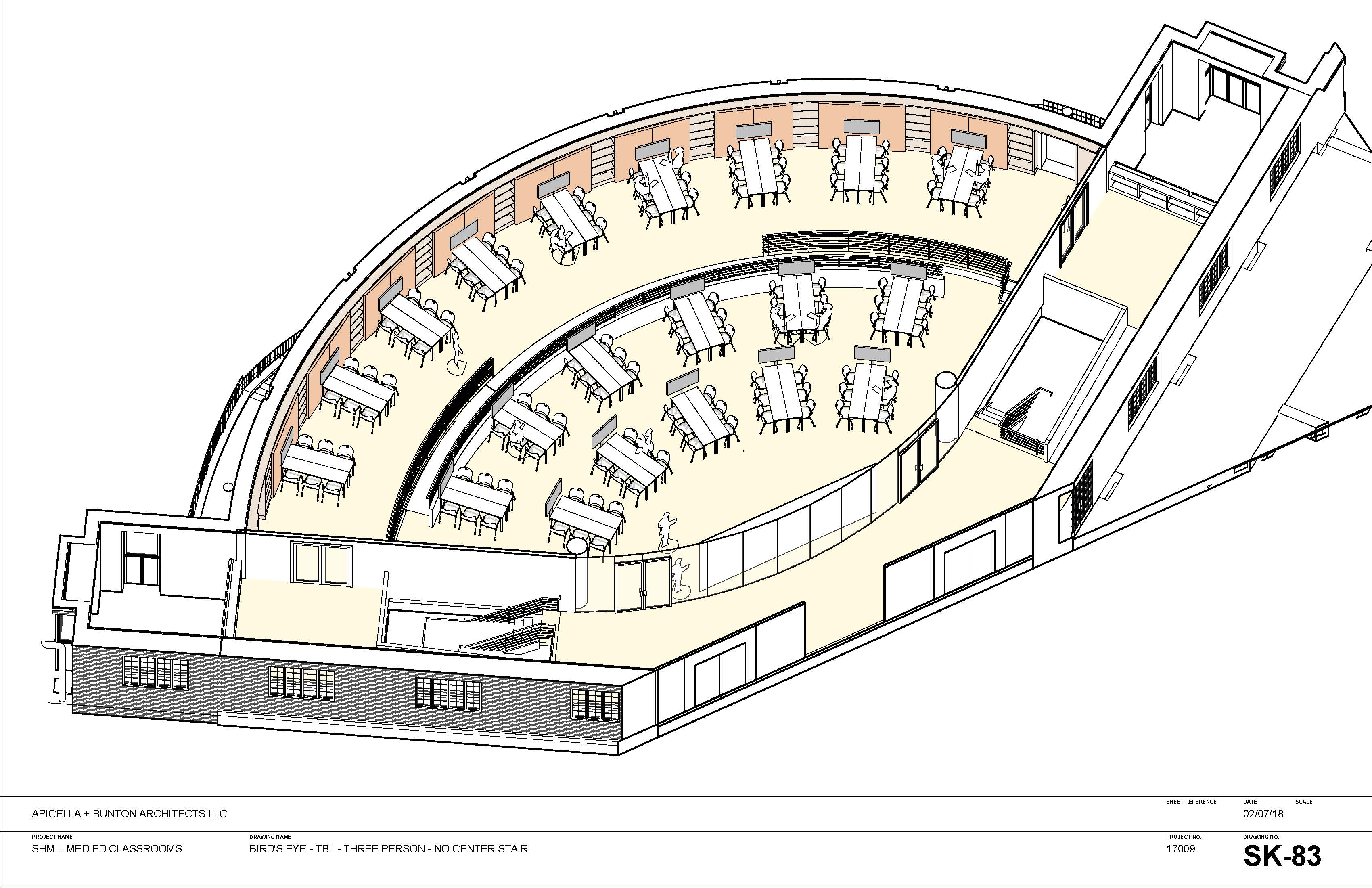 """cutaway"" view of new classroom from above"
