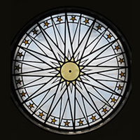 Medical library rotunda window