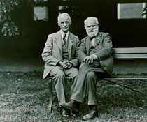 Image of Harvey Cushing sitting alongside Psychologist Ivan Pavlov.