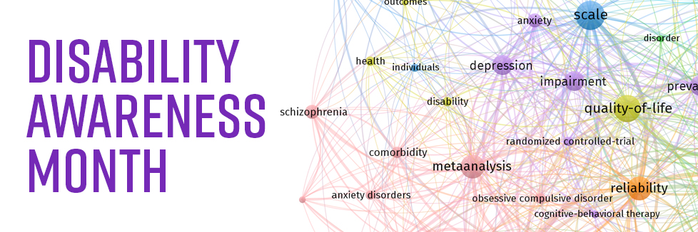 Disability awareness month with a text analysis of published literature keywords related to disability