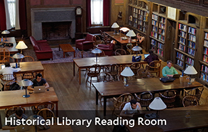 Image of the Historical Library Reading Room in the Yale Medical Library
