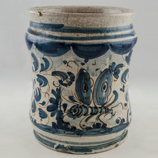 Picture of a blue jar from the Streeter Collection