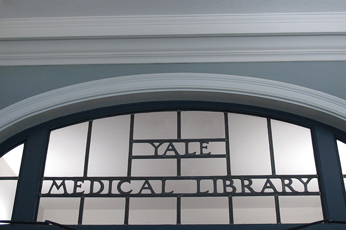 entrance to the Medical Library