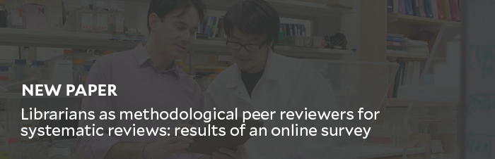 New paper by medical librarians