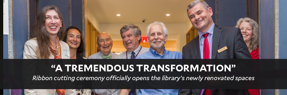 """""""A tremendous transformation"""" of medical library's newly renovated spaces"""