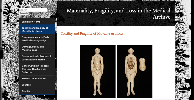 Image of exhibition homepage