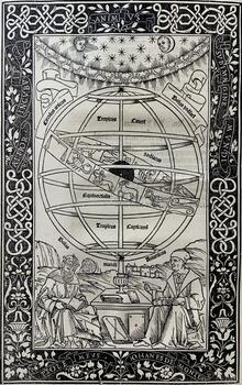 Ornamental Frontispiece from the Epytoma in Almagestum Ptolemaei-1496
