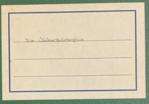 Martha H Roper Papers - card