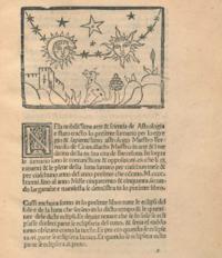 Wolf howling at the moon from Bernat de Granollach's Lunarium: ab anno 1491 ad annum 1550