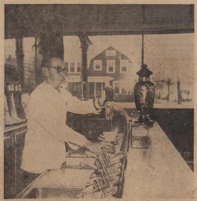 John H. Korn working soda fountain