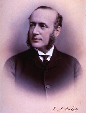 Jacob Mendes Da Costa portrait, National Library of Medicine, pre 1900.