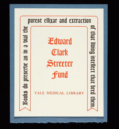 Streeter Fund bookplate