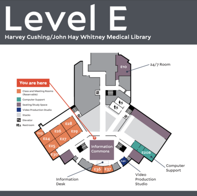e-level of medical library map