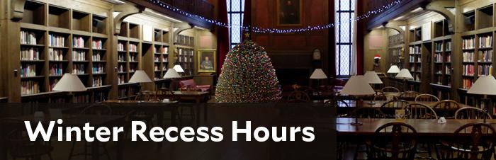Winter recess hours
